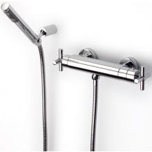 ROCA LOFT sprchová termostatická kohútiková batéria so sprchou, hadicou a držiakom chróm 75A1343C00