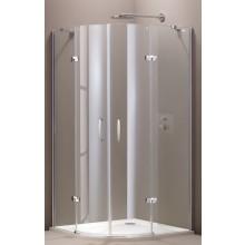 HÜPPE AURA ELEGANCE sprchová zástena 900x900x1900mm strieborná matná/sklo číre anti-plaque 400801.087.322