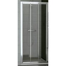 SANSWISS TOP LINE TOPS3 sprchové dvere 1000x1900mm, trojdielne posuvné, matný elox/sklo Durlux