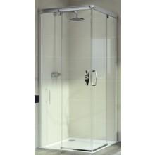 HÜPPE AURA ELEGANCE E2 1000/1000 sprchová zástena 1000x1000x1900mm strieborná matná/sklo číra anti-plaque 401303.087.322