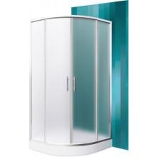 ROLTECHNIK HOUSTON NEO/800 sprchový kút 800x1900mm R550 štvrťkruh, s dvojdielnymi posuvnými dverami, brillant/matt glass