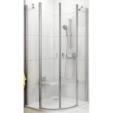 RAVAK CHROME CSKK4 90 sprchovací kút 900x900x1950mm štvrťkruhový, štvordielny biela/transparent