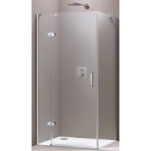HÜPPE AURA ELEGANCE SW 1000 sprchová zástena 985x1000x1900mm strieborná matná/sklo číre anti-plaque 400605.087.322