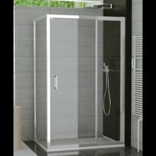 SANSWISS TOP LINE TED sprchové dvere 1000x1900mm, jednokrídlové, s pevnou stenou v rovine, aluchrom/číre sklo Aquaperle