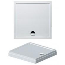 RIHO DAVOS 261 sprchová vanička 100x100x4,5cm, štvorec, vrátane panelu a nožičiek, akrylát, biela