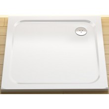 RAVAK GIGANT PRO FLAT sprchová vanička 1000x800mm z liateho mramoru, plochá, obdĺžniková, biela XA03A411010