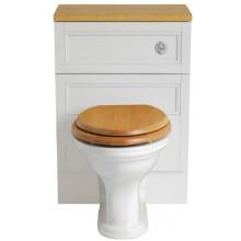 HERITAGE CLAVERTON WC misa 365x527mm, pre nástennú skrinku, vodorovný odpad, biela