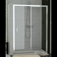 SANSWISS TOP LINE TOPS2 sprchové dvere 1200x1900mm, jednodielne posuvné, s pevnou stenou v rovine, matný elox/číre sklo Aquaperle