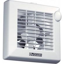 """VORTICE PUNTO M 100/4""""AT axiálny odsávací ventilátor, so žalúziou a dobehom, biela"""