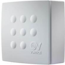 VORTICE QUADRO MICRO 100 T ES radiálny ventilátor 8/15W, úsporný, s časovým dobehom, nástenný, biela