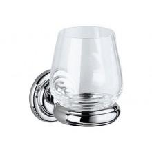 Doplnok pohár Keuco Astor  chróm/číre sklo