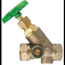 HERZ STRÖMAX-AW uzatvárací ventil DN25 šikmý, s vnútorným závitom, stúpavé vreteno