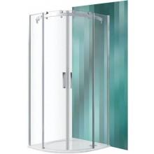 ROLTECHNIK AMBIENT LINE AMR2N/900 sprchový kút 900x2000mm R550 štvrťkruh, s dvojdielnymi posuvnými dverami, brillant/transparent