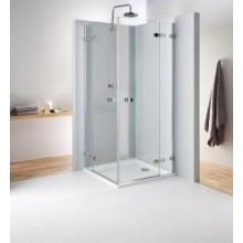 KOLO NEXT štvorcový sprchovací kút 900x1950mm krídlové dvere otvárateľné von, chróm/číre sklo