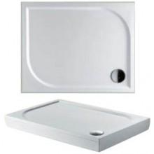 RIHO KOLPING DB32 sprchová vanička 100x90cm obdĺžnik, vrátane sifónu a podpier, liaty mramor, biela