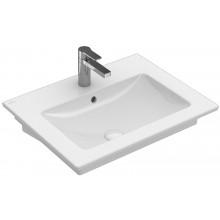 VILLEROY & BOCH VERITY LINE nábytkové umývadlo 600x500mm, s otvorom a prepadom, biela Alpin Ceramicplus