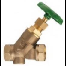 HERZ STRÖMAX-W uzatvárací ventil DN40 šikmý, s vnútorným závitom, stúpavé vreteno