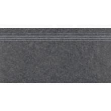RAKO ROCK schodovka 30x60cm, čierna