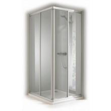 CONCEPT 100 sprchové dvere 1000x1000x1900mm posuvné, rohový vstup 2-dielny, strieborná/matný plast