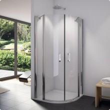 SANSWISS SWING-LINE SLR sprchovací kút 900x900x1950mm s dvojkrídlovými dverami, štvrťkruh, aluchrom/číre sklo Aquaperle