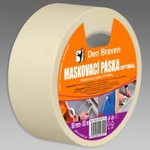 DEN BRAVEN OPTIMAL maskovacia páska 50mmx50m, svetložltá