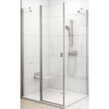 RAVAK CHROME CPS 80 pevná stena 780x800x1950mm jednodielna, satin / transparent 9QV40U00Z1