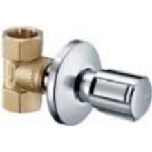 """SCHELL COMFORT ventil podomietkový DN15, G1/2"""" uzatvárací a regulačný s rukoväťou, vnútorný závit, mosadz/chróm"""