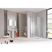 CONCEPT 300 sprchové dvere 1200x1900mm, krídlové, s pevným segmentom, ľavé, strieborná/číre sklo