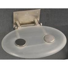 RAVAK OVO P sedadlo do sprchovacieho kúta 410x350x130mm plastové, číra B8F0000000