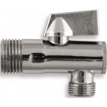 """EASY rohový ventil 1/2""""x3/8"""", s filtrom a kovovou pákou, chróm"""