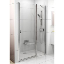 RAVAK CHROME CSD2 120 sprchové dvere 1175x1205x1950mm dvojdielne bright alu / transparent 0QVGCC00Z1