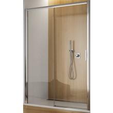 SANSWISS TOP LINE TBFS2 D sprchové dvere 1200x1900mm, jednodielne posuvné s pevnou stenou v rovine, pevný diel vpravo, aluchróm/sklo Durlux