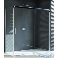 HÜPPE DESIGN PURE GT 1800 posuvné dvere 1800x2000mm jednodielne s pevným segmentom, strieborná matná/číra anti-plaque 8P0120.087.322.730