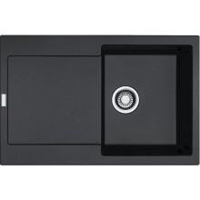FRANKE MARIS MRG 611 umývadlo 780x500mm s odkvapkávacou miskou, Fragranit DuraKleen Plus/onyx