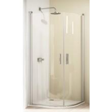 HÜPPE DESIGN 501 ELEGANCE krídlové dvere 1000x1900mm strieborná lesklá/číra anti-plaque 8E1603.092.322