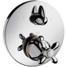 AXOR CARLTON termostat podomietkový s uzatváracím a prepínacím ventilom chróm-zlato
