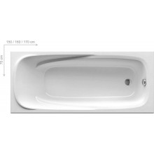 RAVAK VANDA II 160 klasická vaňa 1600x700x430mm akrylátová, obdĺžniková biela CP11000000