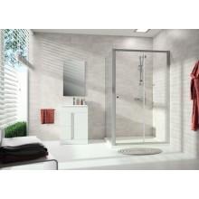 CONCEPT 100 NEW sprchové dvere 1400x1900mm posuvné, 1-dielne, s pevným segmentom, biela / číre sklo s AP, PTA20404.055.322