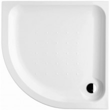 DEEP BY JIKA akrylátová sprchová vanička 800x800mm štvrťkruhová, samonosný rám, biela