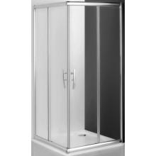 ROLTECHNIK PROXIMA LINE PXS2L/900 sprchový kút 900x2000mm štvorcový, ľavá časť, s dvojdielnymi posuvnými dverami, rámový, brillant/transparent