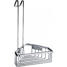 NIMCO KIBO polička 230x167x390mm drôtená, rohová, s hákom pre zavesenie v spŕchovom kúte chróm