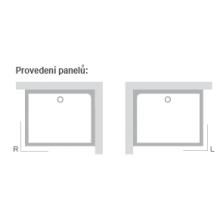 RAVAK GIGANT PRO SET P panel 1100x800mm pravá XA83DP01010