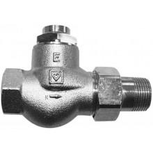 """HERZ RL-1-E radiátorový ventil 1/2"""" rohový, do spiatočky, jednorúrkové sústavy"""