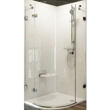 RAVAK BRILLIANT BSKK3 90 L sprchovací kút 900x1950mm, R500, štvrťkruhový, trojdielny, chróm/transparent