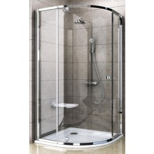 RAVAK PIVOT PSKK3-100 sprchovací kút 1000x1000x1900mm štvrťkruhový, bright alu / transparent 37644C00Z1