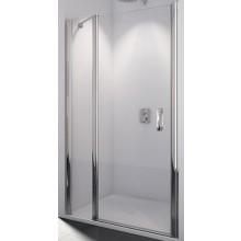 SANSWISS SWING LINE SL13 sprchové dvere 1000x1950mm jednokrídlové, s pevnou stenou v rovine, matný elox/číra