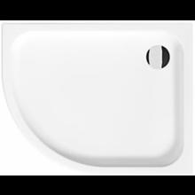 JIKA TIGO vanička sprchová keramická 1000x800x85mm asymetrická, pravá, biela, Antislip 8.5221.1.600.000.1