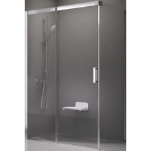RAVAK MATRIX MSDPS 110x80 R sprchové dvere 1100x800x1950mm, s pevnou stenou, satin/transparent