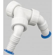 """OTTO HAAS pripojovacie hadicové koleno G1"""" dvojité, polypropylén, biela"""