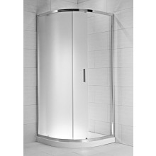 JIKA CUBITO PURE sprchovací kút 900x900x1950mm dvojdielny, štvrťkruhový, transparentná 2.5024.2.002.668.1